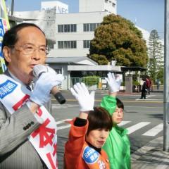 「雇用問題については自治体が責任持つべき」岡本候補訴え