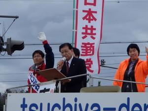 日本の夜明けは長野から 市田副委員長・県議選の応援に駆けつける