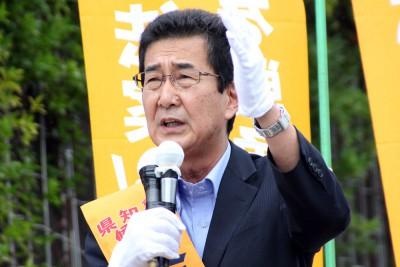 戦争法案ノーを埼玉から/知事選告示 柴田候補が訴え