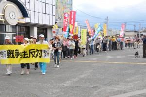 花巻では、革新懇の呼びかけで、戦争法案反対市民集会・デモ