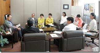 上郷猿田築開発計画について市長に申し入れ