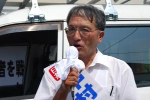 田野畑村議選 漁業後継者の育成へ 中村氏が第一声