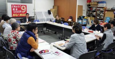 【さいたま市】女性レッドアクションが学習・懇談/「国民連合政府」学ぶ 党県委員長が報告