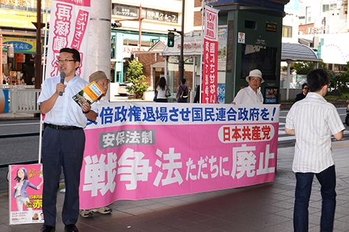 国民連合政府つくろうの声を大きく/日本共産党県委員会が毎週土曜日に宣伝