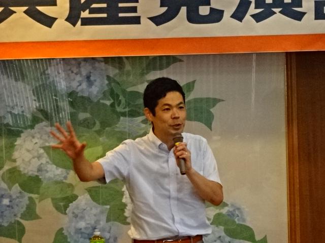 武田参議院議員、能美市・加賀市の演説会で訴え