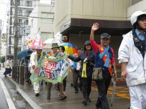 核兵器なくそう 岡山市中心部に声響く 菅原さんも参加